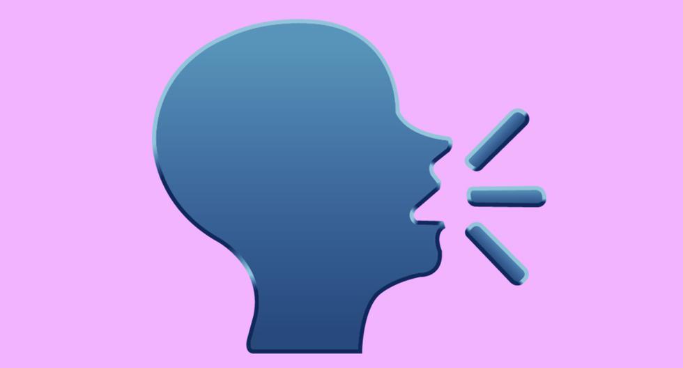 ¿Una cabeza parlante? Conoce realmente el significado de este extraño emoji de WhatsApp que causa confusión. (Foto: Emojipedia)