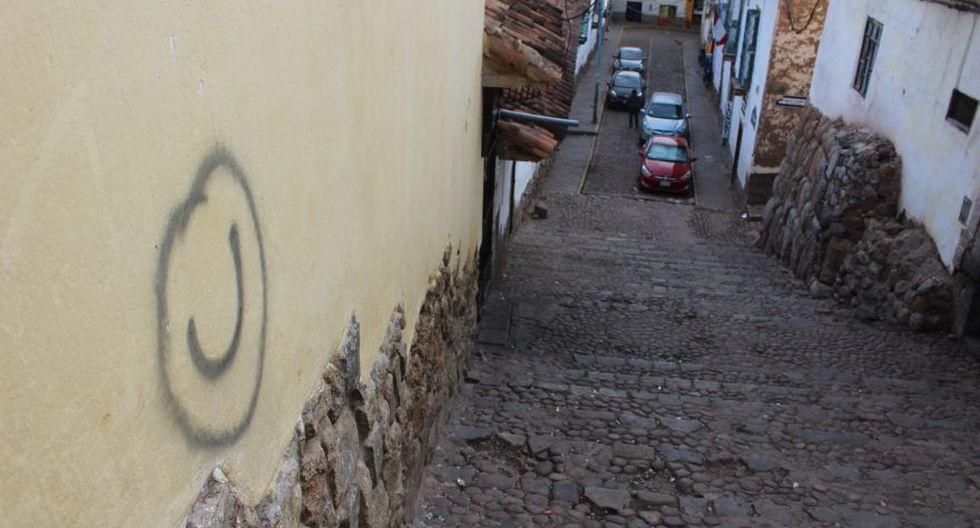 Pinta en la calle Teqseqocha. (Foto: Miguel Neyra / El Comercio)