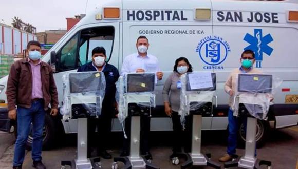 Ica: Entregan cuatro ventiladores volumétricos a Hospital San José de Chincha para atención de pacientes COVID-19. (Foto GORE Ica)