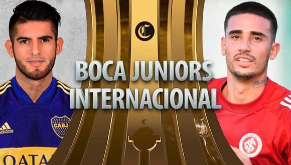 Boca Juniors vs. Internacional de Porto Alegre en vivo por la Copa Libertadores este miércoles.