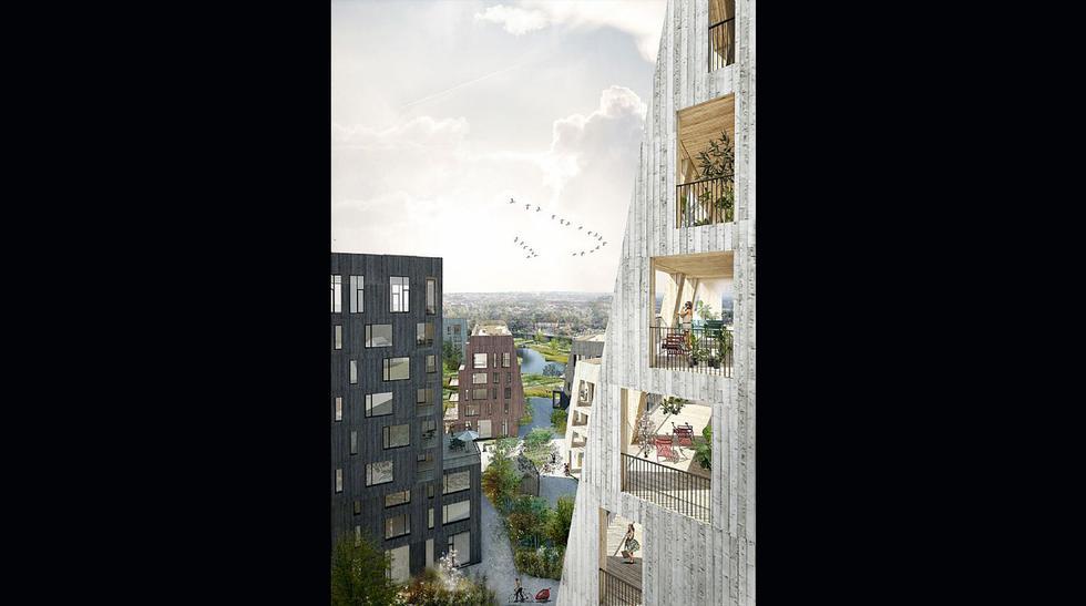 El pintoresco barrio solo de madera que se construirá en Suecia - 3
