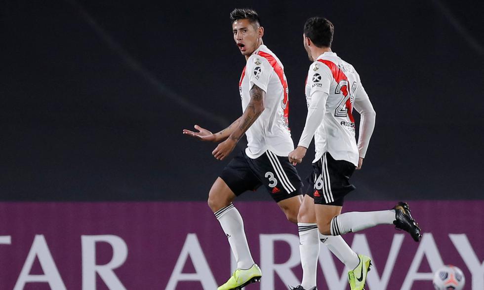River derrota a Santa Fe en la fecha 5 de la Copa Libertadores 2021 con goles de Julián Álvarez y Fabrizio Angileri | Foto: AFP