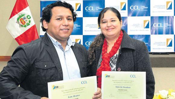 Álvarez y Mendoza fueron reconocidos en prensa escrita y digital. (Cámara de Comercio de Lima)