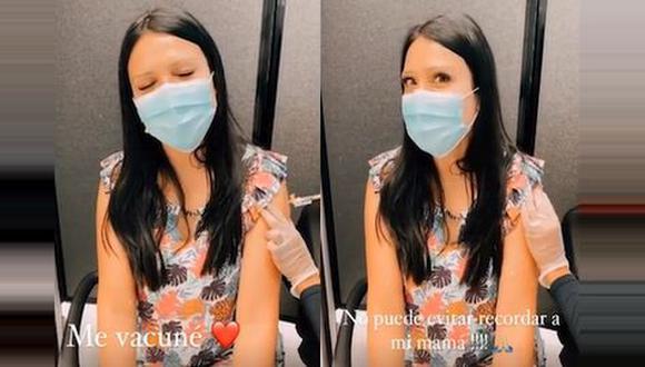 Tula Rodríguez y su hija se vacunaron contra el COVID-19. (Foto: Captura)
