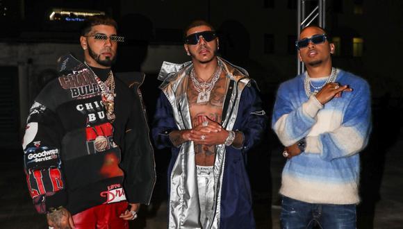 """CJ, Anuel y Ozuna se unieron para lanzar el remix latino de """"Whoopty"""". (Foto: @realcj_)"""