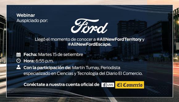 Ford presentará sus nuevos productos en el mercado peruano. (Difusión)