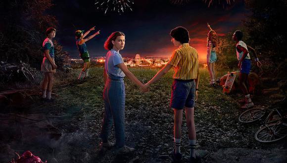 "Detalle del póster oficial de ""Stranger Thinsg"" temporada 3 Foto: Netflix."