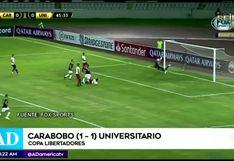 Carabobo vs Universitario: resumen, goles y resultado