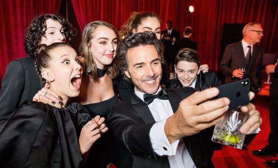 Millie Bobby Brown, Finn Wolfhard, Shawn Levy y Noah Schnapp protagonizan la exitosa serie Stranger Things. (Foto: Getty Images/BBC)