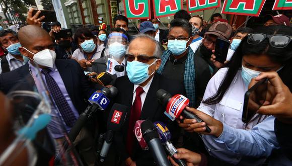 """El asesor legal de Perú Libre señaló que si se encuentra """"alguna responsabilidad"""" por el caso de 'Los dinámicos del centro' """"se asumirán las consecuencias"""". (Foto: El Comercio)"""