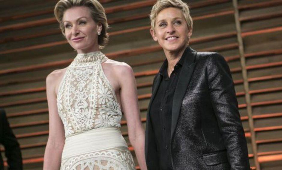 Ellen DeGeneres y Portia de Rossi celebran 10 años de matrimonio   Foto: AFP