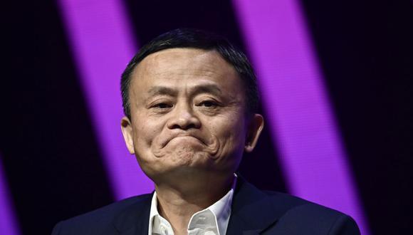Jack Ma, CEO del gigante chino del comercio electrónico Alibaba, habla durante su visita a la feria de innovación y startups Vivatech, en París, el 16 de mayo de 2019. (Foto de Philippe LOPEZ / AFP).