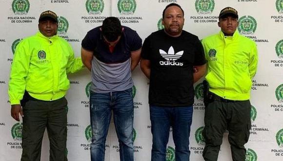 Peralta (tercero desde la izquierda) era considerado el principal narcotraficante de República Dominicana. (Policía Nacional de Colombia).