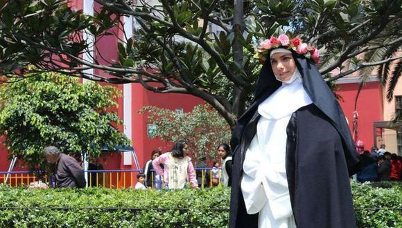 Milagros López Arias es Santa Rosa de Lima, en nuevo filme sobre la religiosa peruana. FOTO: Diario Trome.