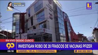 Investigan robo de 28 vacunas Pfizer en el Colegio de Ingenieros de Cusco