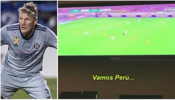 Schweinsteiger alentó así a Perú este martes [VIDEO]