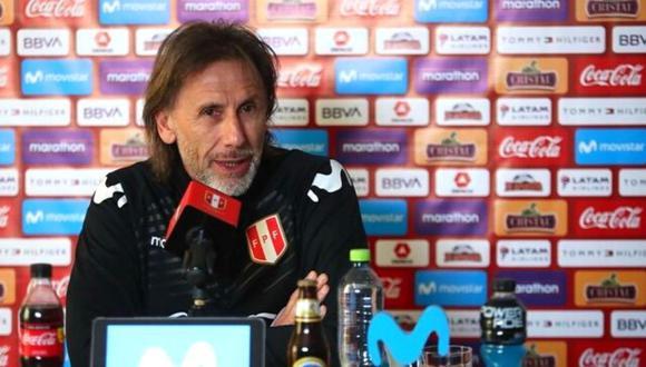 Ricardo Gareca aseguró que la Bicolor llegará en buenas condiciones al partido del viernes contra Chile (@SelecciónPerú)