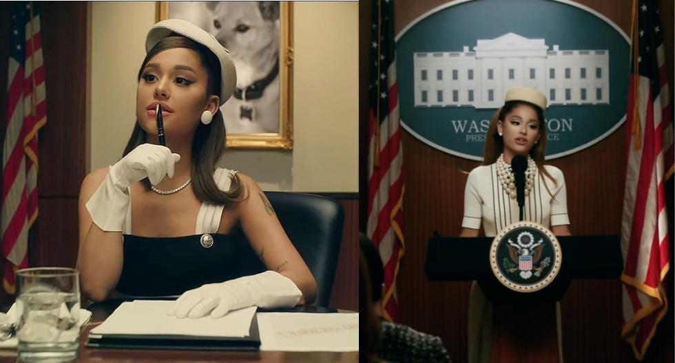 Ariana Grande acaba de estrenar el videoclip de su nuevo single 'Positions', en el cual interpreta versión muy fashionista del presidente de los EEUU. (Fotos: IG/ @justjared)
