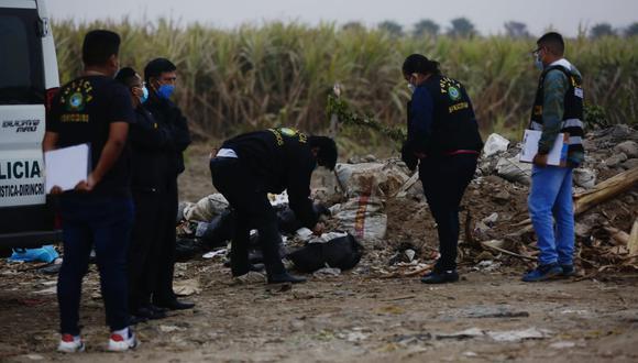 Encuentran cuerpo descuartizado de un hombre en terreno de Puente Piedra. (Foto: Cesar Grados/@photo.gec)