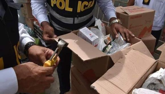 Piura: Detienen a dos personas en vivienda con medicinas del Ministerio de Salud. (Foto: PNP)