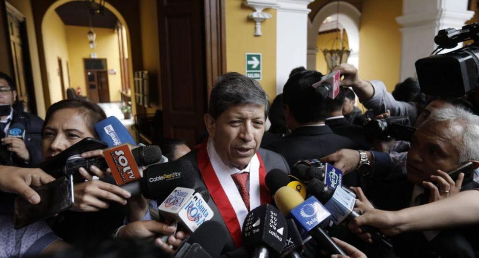 Carlos Ramos es el encargado de presentar un borrador del informe respecto a si se admite o no a trámite la demanda competencial. (Foto: Anthony Niño de Guzmán / GEC)