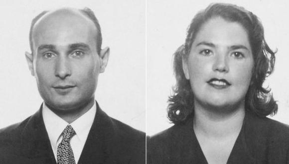 Joan Pujol, que aparece en la imagen con su esposa Araceli, fue un agente doble que ayudó a engañar a los nazis sobre las operaciones del Día D. (Foto: PA)