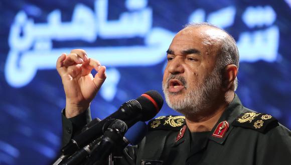 El comandante de la Guardia Revolucionaria iraní, mayor general Hossein Salami, tuvo un discurso bastante duro contra Israel. (Foto: Archivo de AFP)