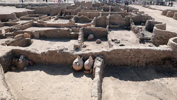 Un descubrimiento arqueológico denominado Ciudad Dorada Perdida en Luxor, Egipto, el 10 de abril de 2021. (EFE / EPA / KHALED ELFIQI).