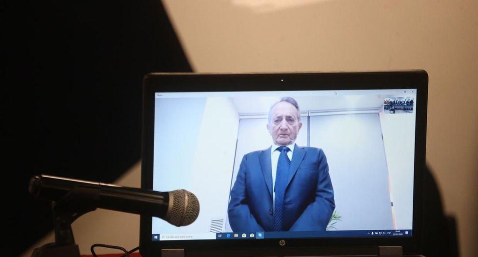 Josef Maiman declaró por ocho horas ante el juez Richard Concepción a través de una videoconferencia desde Israel. Contestó preguntas de la fiscalía y la defensa. (Foto: GEC)
