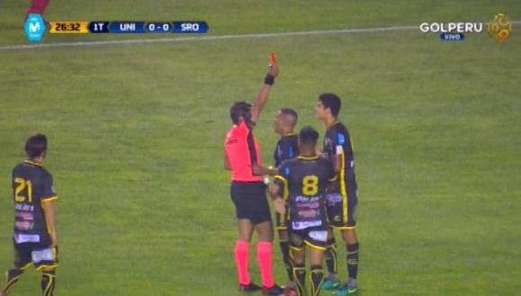 Universitario vs. Gremio: Alberto Quintero generó expulsión de 'Che' Beltrán con esta jugada. (Foto: captura)