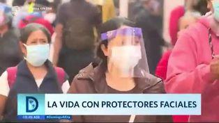 Coronavirus en Perú: vida con protectores faciales