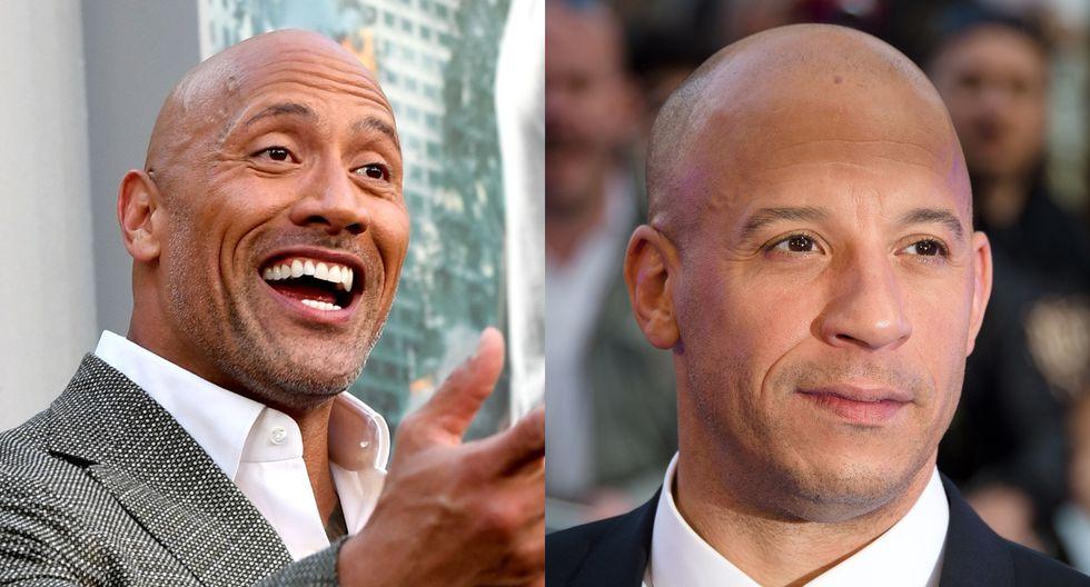 """Película relacionada a """"Rápidos y furiosos"""" será protagonizada por Dwayne Johnson (izq.), mientras que Vin Diesel (der.)  permanecerá fuera. (Fotos: AFP)"""