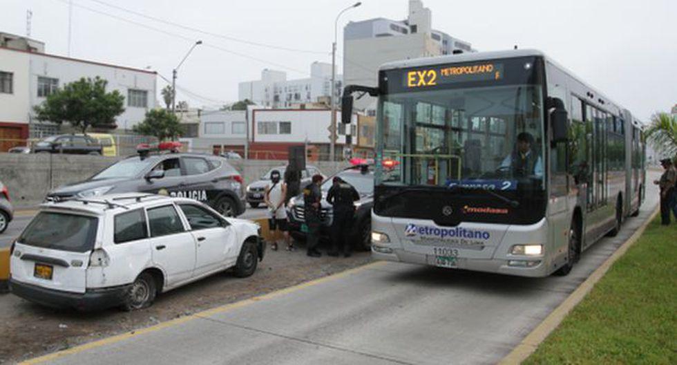 Vía del Metropolitano registra 135 accidentes solo este año