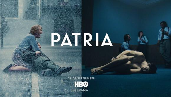 """El cartel de la serie """"Patria"""", de HBO, generó polémica y críticas en redes sociales. (Foto: @@HBO_ES)"""