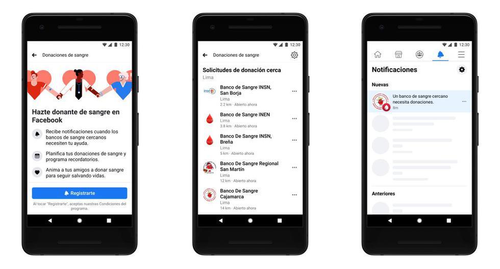 Desde hoy, Facebook habilitó en el Perú una herramienta que alerta a los usuarios registrados, cuando algún banco de sangre oficial requiera donantes. (Facebook)