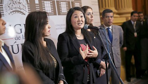 La presencia de Keiko Fujimori generó grandes medidas de seguridad en el Parlamento.  (Foto: Anthony Niño de Guzmán/ El Comercio)