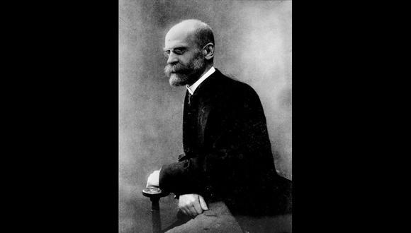 Retrato de Emile Durkheim perteneciente a la colección de 15 retratos compilados por la Sociedad de Amigos del Centro de Estudios Sociológicos [Foto: SACES, UMS 3036].