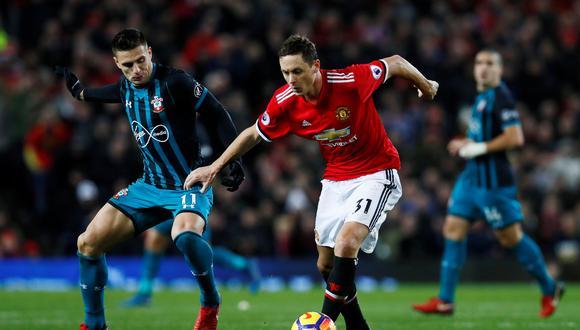 Manchester United no pasó del empate frente a un fuerte Southampton. El momento más impactante del duelo fue la lesión de Romelu Lukaku. (Foto: AFP)