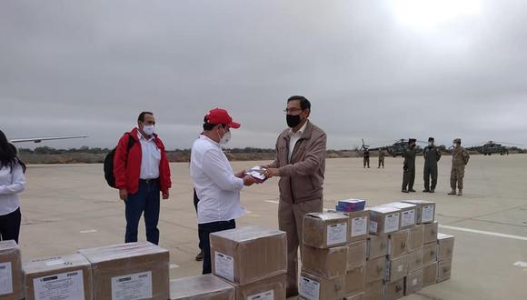 Piura: estudiantes de la región se beneficiarán con 1136 tablets que fueron entregadas por Vizcarra (Foto: Gore Piura)
