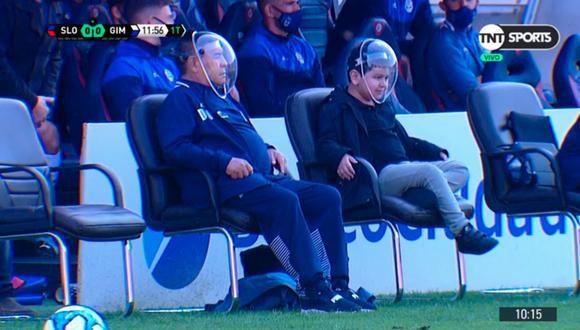 Diego Maradona es entrenador de Gimnasia desde el 2019. (Foto: TNT Sports)