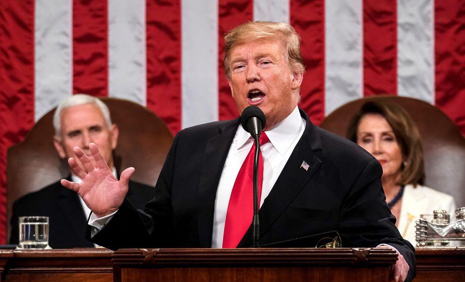 """Donald Trump y el Estado de la Unión: 4 frases claves del presidente de EE.UU. durante """"el discurso político más importante del año"""". (EFE)."""