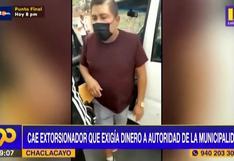 Chaclacayo: Cae delincuente que buscaba extorsionar a funcionario de la municipalidad