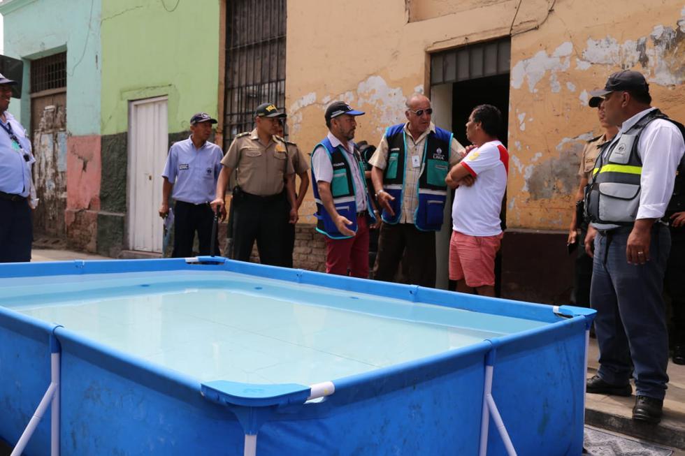 La Municipalidad de Lima retiró diez piscinas portátiles que obstruían las calles y vías públicas en el Cercado el último fin de semana. (Foto: Municipalidad de Lima)