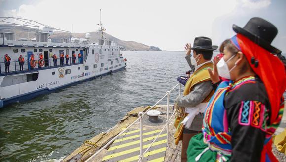 Puno: Buque PIAS zarpó y navegará 30 días por el lago Titicaca llevando atención COVID-19 (Foto: Andina)