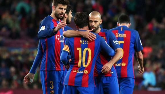 Javier Mascherano desea a Lionel Messi por más tiempo en Barcelona. (Foto: AFP)