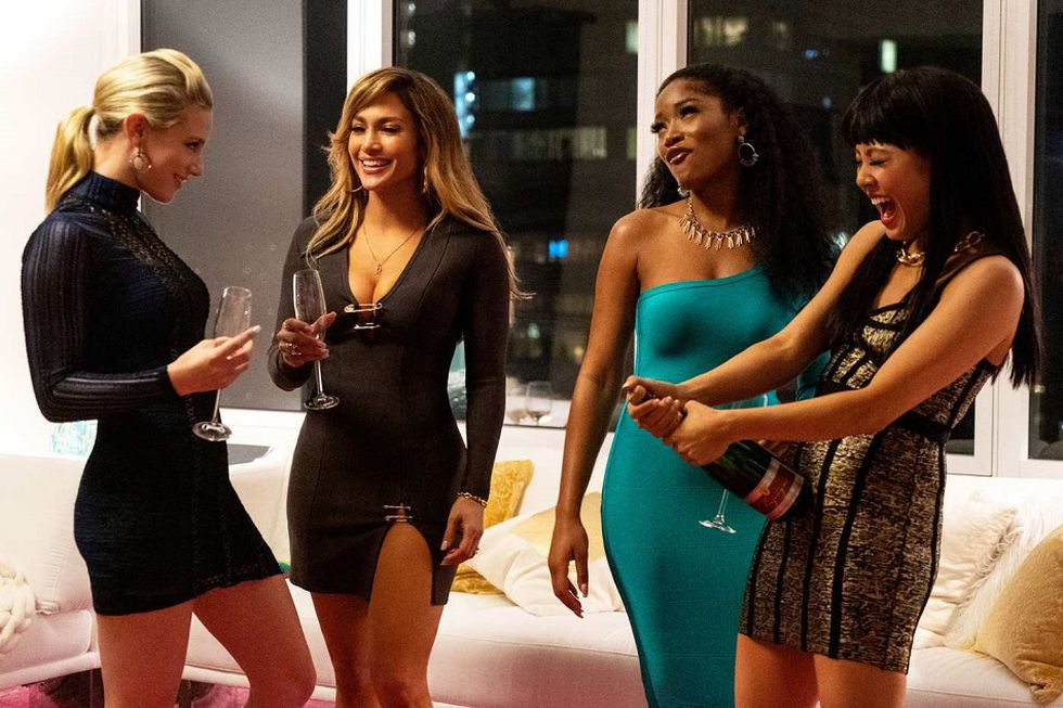 "Jennifer López, Constance Wu, Cardi B, Keke Palmer, Julia Stiles y Lili Reinhart son las protagonistas de ""Hustlers"" (Foto: STXfilms)"