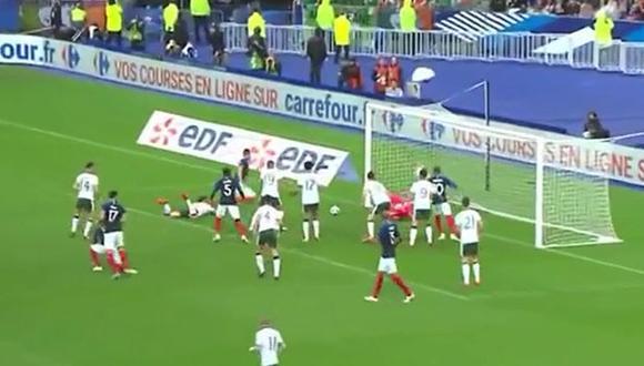 Olivier Giroud anotó el 1-0 para Francia en amistoso ante Irlanda previo a Rusia 2018. (Foto: Captura de video)