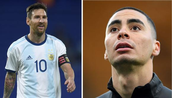 Lionel Messi - Miguel Almirón. (Foto: AFP)