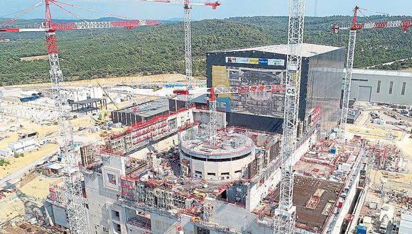 Vista aérea del sitio de construcción de ITER, en sur de Francia. (Foto: ITER)