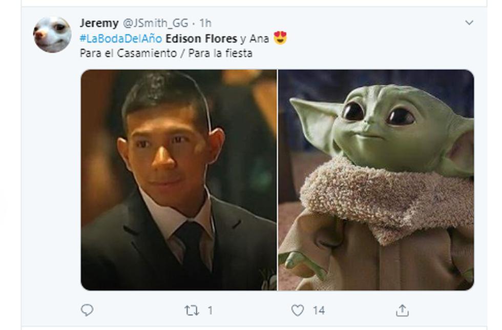 El matrimonio entre Edison Flores y Ana Siucho hizo que miles de usuarios crearan ingeniosos memes en Facebook, Instagram y Twitter.  (Capturas de pantalla)